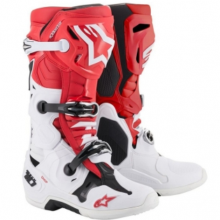 Alpinestars Tech 10 Red White Black Boots