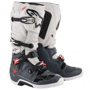 Alpinestars Tech 7 Dark Grey Red Fluo Boots