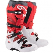 Alpinestars Tech 7 White Red Burgundy Boots