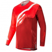 Alpinestars Techstar Factory Jersey - Red Burgundy
