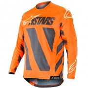Alpinestars Racer Braap Jersey - Anthracite Orange Fluo Sand