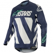 Alpinestars Racer Braap Jersey - Cool Grey Dark Navy Teal