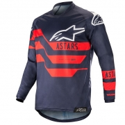 Alpinestars Racer Flagship Jersey - Dark Navy Blue Red