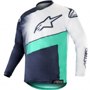 Alpinestars Racer Supermatic Jersey - Dark Navy Teal White