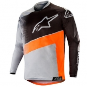 Alpinestars Racer Supermatic Jersey - Light Grey Orange Fluo Black