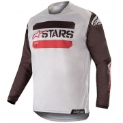 Alpinestars Racer Tactical Jersey - Black Grey Camo Burgundy