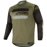 Alpinestars Racer Tactical Jersey - Black Military Camo Green
