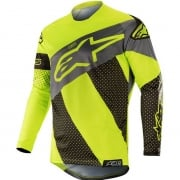 Alpinestars Racer Tech Atomic Jersey - Black Yellow Fluo Grey