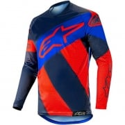 Alpinestars Racer Tech Atomic Jersey - Red Dark Navy Blue