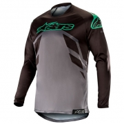 Alpinestars Racer Tech Compass Jersey - Black Mid Grey Teal