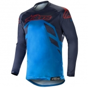 Alpinestars Racer Tech Compass Jersey - Dark Navy Blue Burgundy