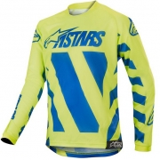 Alpinestars Kids Racer Braap Blue Yellow Fluo Jersey