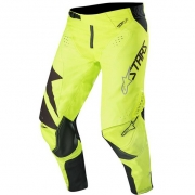 Alpinestars Kids Racer Factory Black Yellow Fluo Pants