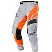Alpinestars Kids Racer Supermatic Grey Orange Fluo Black Pants