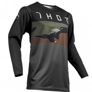 Thor Prime Pro Fighter Charcoal Camo Jersey