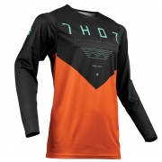 Thor Prime Pro Jet Black Red Orange Jersey