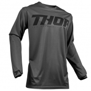 Thor Pulse Smoke Black Grey Jersey
