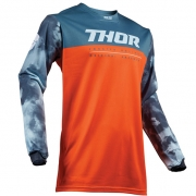 Thor Kids Pulse Air Acid Red Orange Slate Jersey