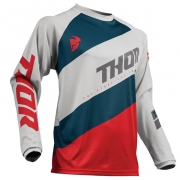 Thor Kids Sector Shear Light Grey Red Jersey