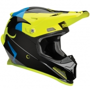 Thor Kids Sector Shear Black Acid Helmet