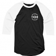 Thor Outfitters Raglan 3/4 Sleeves Black T Shirt