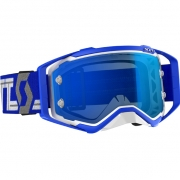Scott Prospect White Blue Electric Blue Chrome Goggles