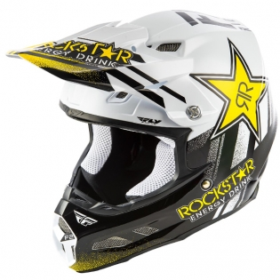 Fly Racing F2 Carbon MIPS Rockstar Black White Helmet