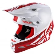 Fly Racing F2 Carbon MIPS Shield White Red Helmet