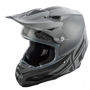 Fly Racing F2 Carbon MIPS Shield Matte Black Grey Helmet