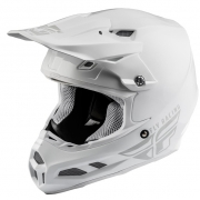 Fly Racing F2 Carbon MIPS Shield Solid White Helmet