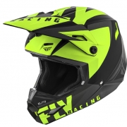 Fly Racing Elite Vigilant Black Hi Viz Helmet