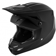 Fly Racing Elite Solid Matte Black Helmet