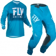 Fly Racing Lite Hydrogen Blue White Kit Combo