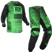 Fly Racing Kinetic Noiz Neon Green Black Kit Combo