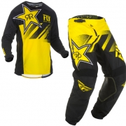 Fly Racing Kinetic Rockstar Yellow Black Kit Combo