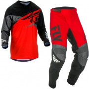 Fly Racing F16 Red Black Grey Kit Combo