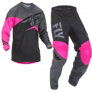 Fly Racing F16 Neon Pink Black Grey Kit Combo