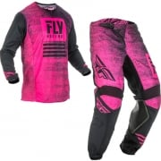 Fly Racing Kinetic Kids Noiz Neon Pink Black Kit Combo