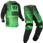 Fly Racing Kinetic Kids Noiz Neon Green Black Kit Combo
