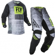 Fly Racing Kinetic Kids Noiz Black Hi Viz Kit Combo