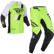 Fly Racing Evolution Hi Viz Black White Kit Combo