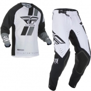 Fly Racing Evolution Black White Kit Combo