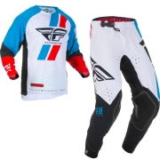 Fly Racing Evolution Red Blue Black Kit Combo