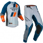 Fly Racing Evolution Navy Grey Orange Kit Combo