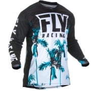 Fly Racing Lite Hydrogen Paradise Teal Black Jersey