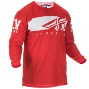 Fly Racing Kinetic Shield Red White Jersey