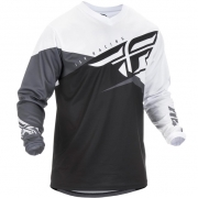 Fly Racing F16 Black White Grey Jersey