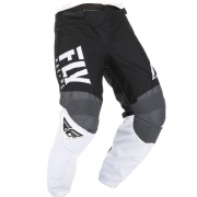 Fly Racing F16 Kids Black White Grey Pants