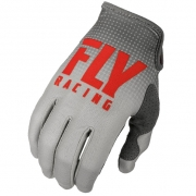 Fly Racing Lite Kids Red Grey Gloves