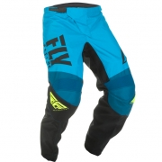 Fly Racing F16 Kids Blue Black Hi Viz Pants